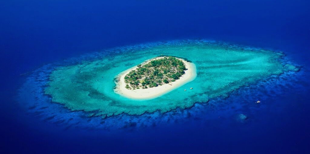 Aerofotogrametria de una isla