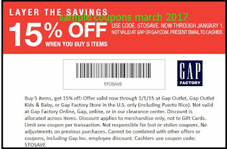free Gap coupons for march 2017