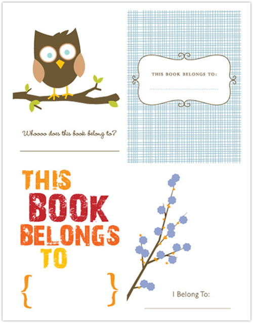 My owl barn freebies bookplates for Free printable bookplates templates