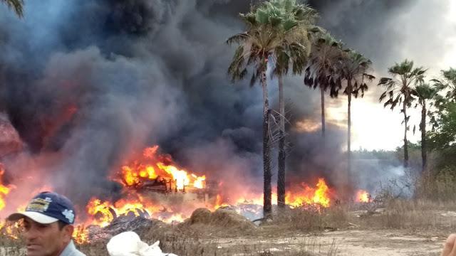 Resultado de imagem para Carreta tomba, explode e motorista morre queimado na RN-118