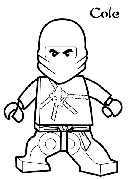 Lego ninjago nya coloring pages for Lego ninjago coloring pages cole
