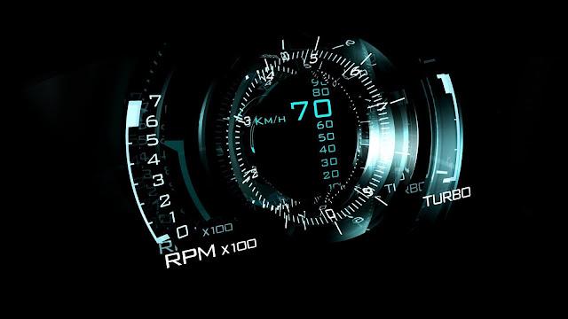 Digital Speed Black Car Wallpaper HD