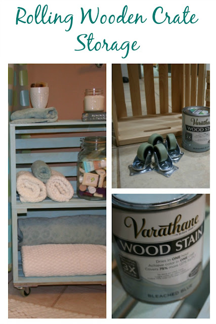 Need more storage space, but do not have room? This DIY Rolling Storage using wooden crates is the perfect solution!