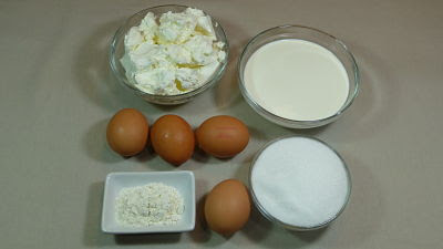 Tarta de queso tradicional. Ingredientes