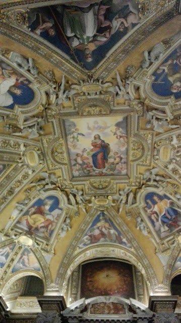 Beschilderd plafond van de Santa Maria Maggiore