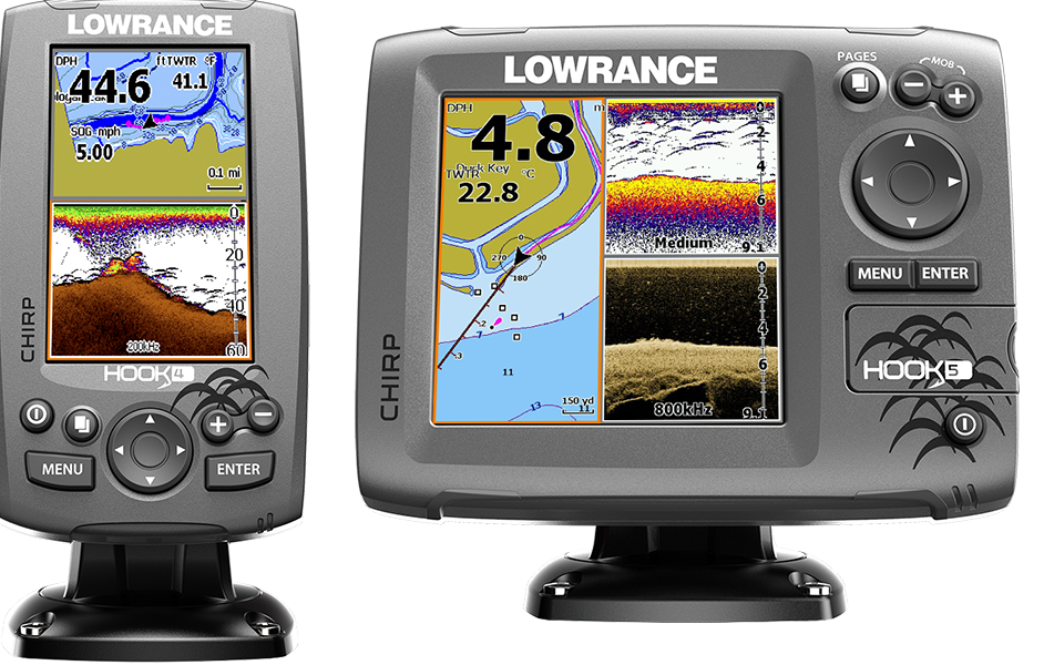 What is the difference between Lowrance Hook and Hook2?