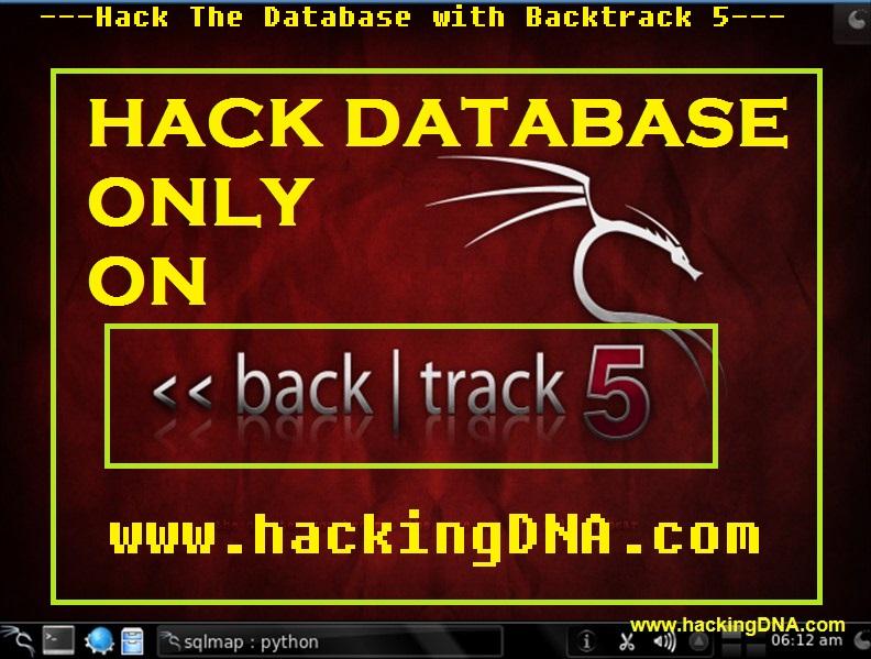 Hack The Database with Backtrack 5 | HackingDNA