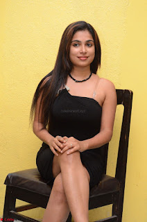 Vrushali Gosavi in strapless Short Black Dress At Follow Follow U Audio Launch 003.JPG