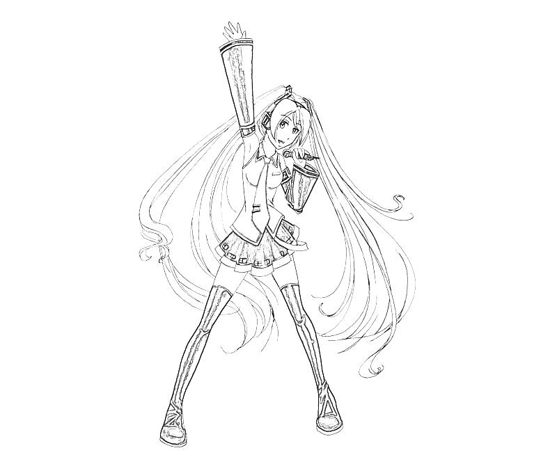hatsune miku coloring pages - photo #26