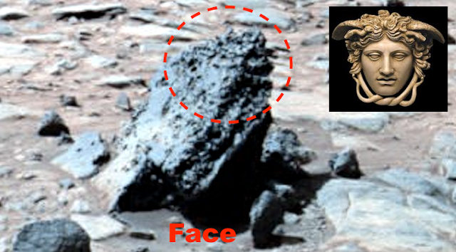 Ufo sightings daily medusa head found on mars carved into