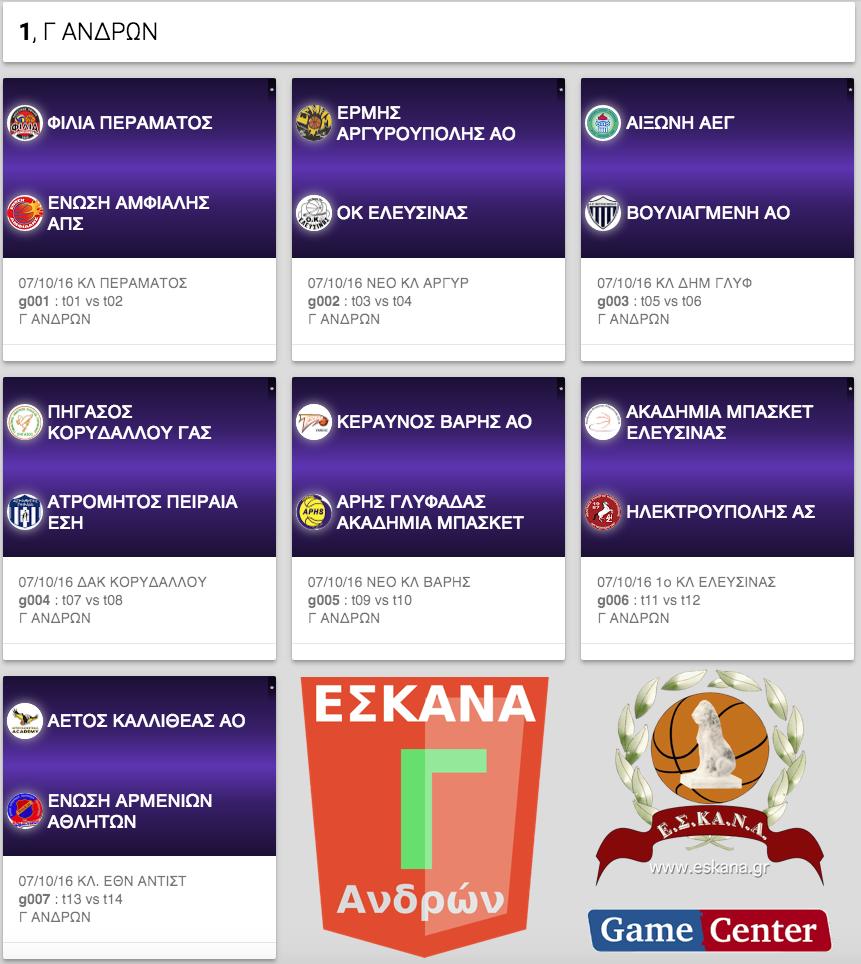 Η κλήρωση της Γ΄ Ανδρών ΕΣΚΑΝΑ 2016-17