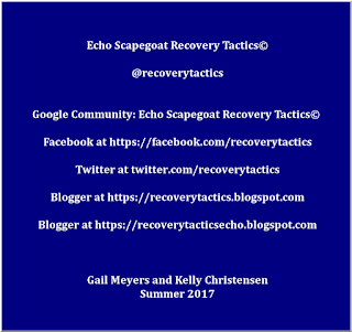 Echo Scapegoat Recovery Tactics© Website Addresses URL Gail Meyers and Kelly KC3Lady Christensen - Johnson County, Kansas