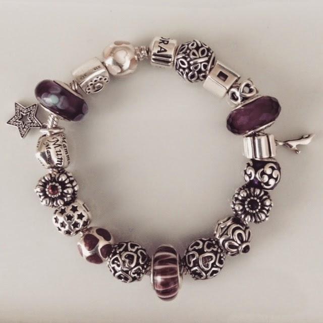 Pandora Bracelet pink, purple