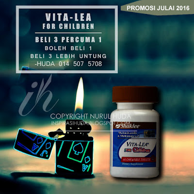 promosi, shaklee, julai 2016, vitalea, vitalea for children, vitalea kid, multivitamin, suplemen, vitamin, inspirasihuda,
