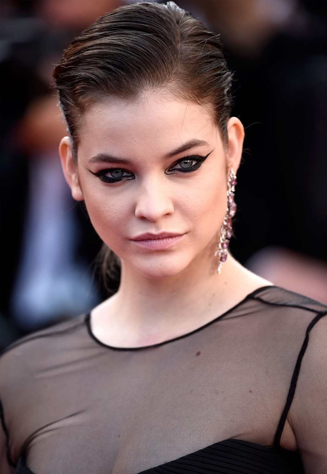 Full HQ Photo of Barbara Palvin in Black Dress At Youth Premiere At Cannes Film Festival