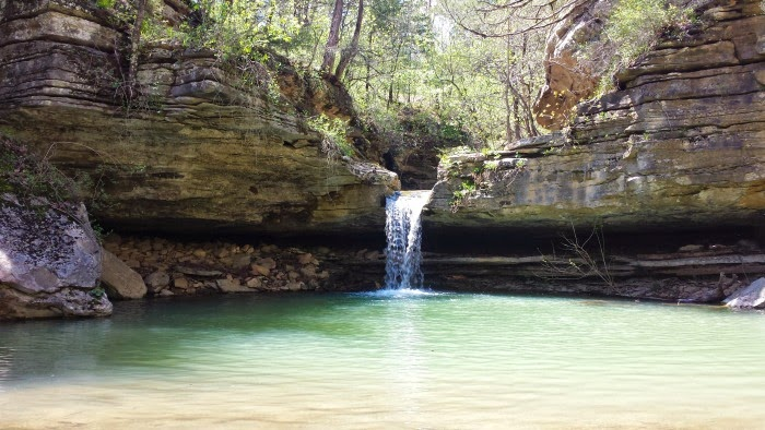 Paige Falls and Broadwater Hollow Falls Trail in Compton, AR