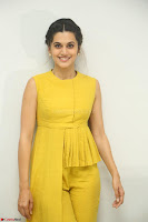 Taapsee Pannu looks mesmerizing in Yellow for her Telugu Movie Anando hma motion poster launch ~  Exclusive 093.JPG