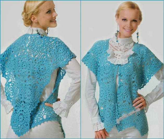 Blusa sin mangas al crochet modelo especial