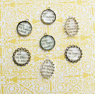 image pride and prejudice pendants brooch bracelet charm jane austen romeo and juliet shakespeare two cheeky monkeys