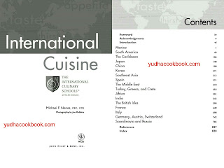 Urban cuisine, world cuisine, country cuisine, international cuisine cook book