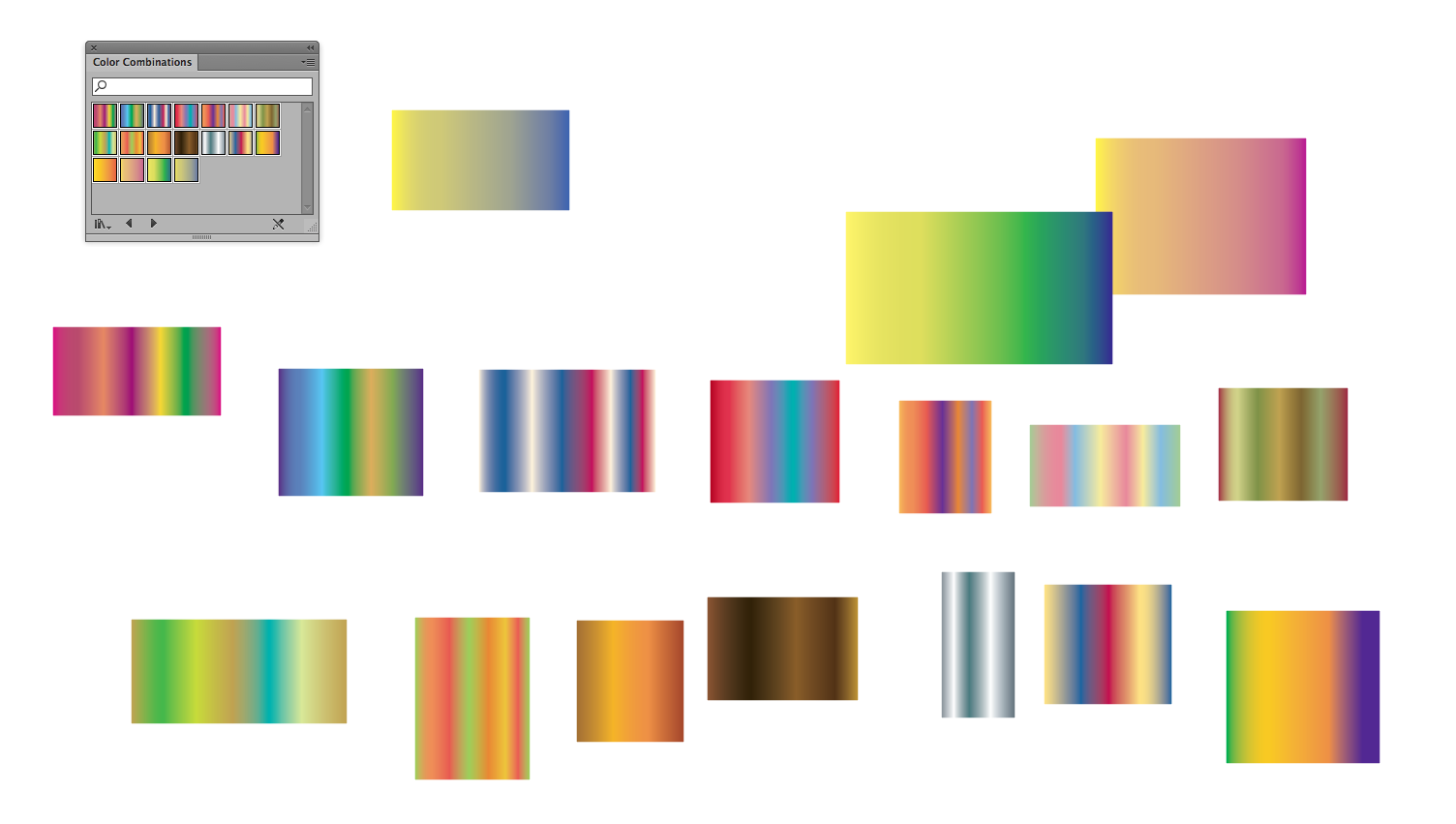 I Wanted All These Gradients, So I Made A Bunch Of Rectangles, And Applied  The Gradients Swatches To Them