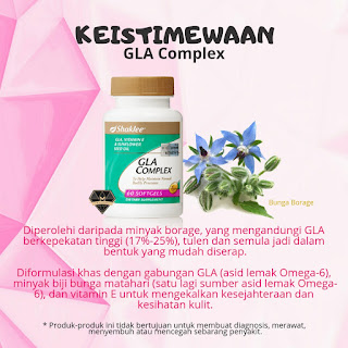 GLA Complex, Fungsi GLA complex, Kebaikan GLA Complex, Testimoni GLA Complex,