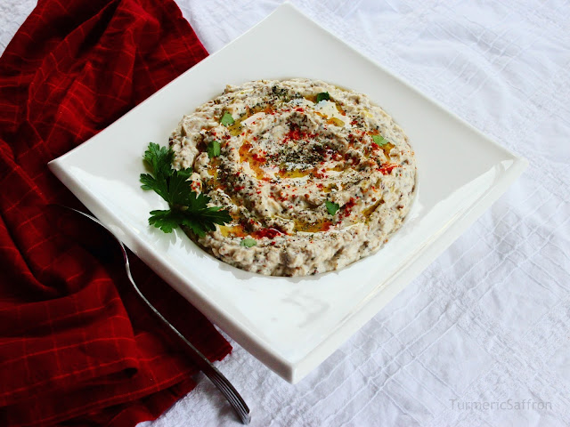 Borani Bademjan-Persian Eggplant and Yogurt Dip
