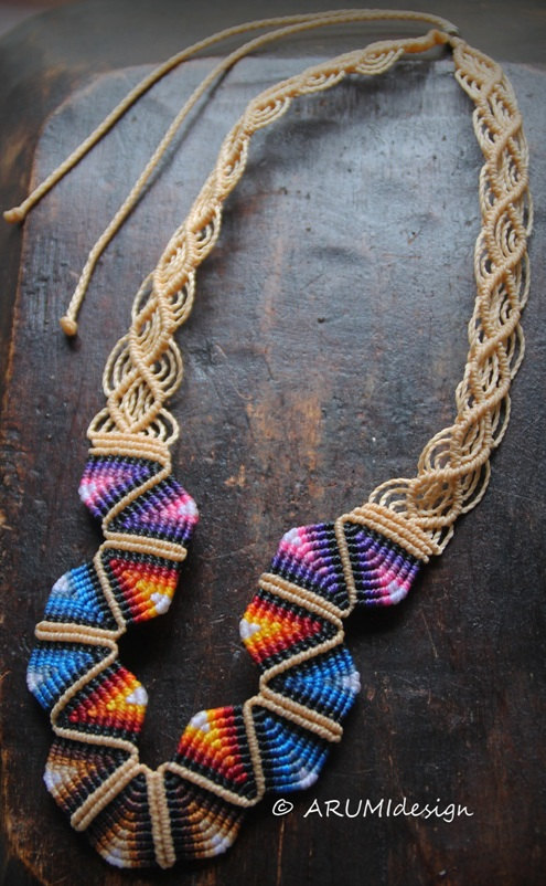 macrame necklaces patterns micro macrame statement jewelry by arumidesign the 7182