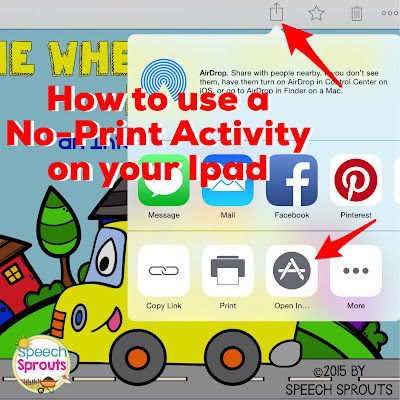 How To Use NO-Print Activities in Speech Therapy www.speechsproutstherapy.com