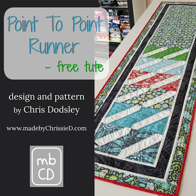 Point To Point Runner Tute by www.madebyChrissieD.com
