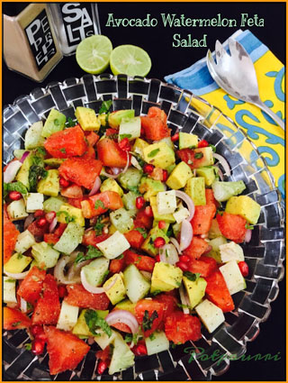 avocado watermelon salad