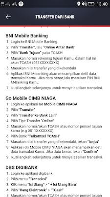 Petunjuk Isi Saldo Mobile Banking BNI