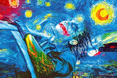 El Joker y Van Gogh pintura