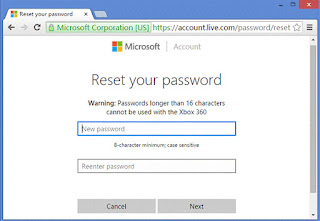 Resetting Outlook/Hotmail Password By Microsoft Account