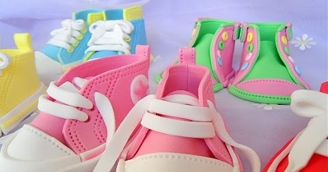 Initiative Fondant Baby Shoe Cake Topper Other Baking Accessories Home & Garden
