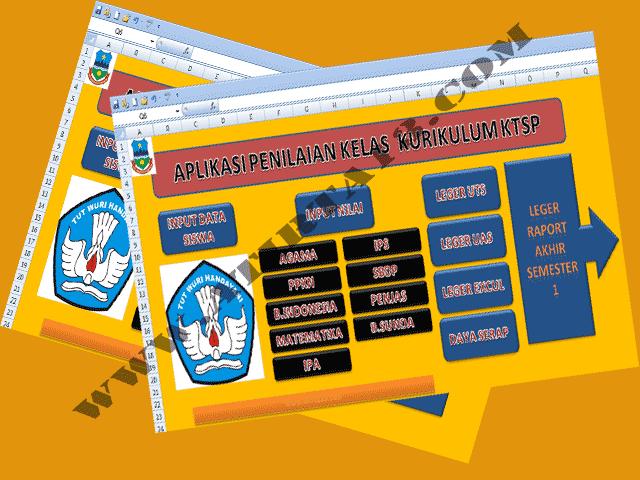 Download Aplikasi Penilaian Kelas Kurikulum KTSP SD Kelas 1 2 3 4 5 6 Format Excel