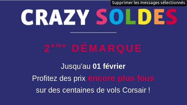 Crazy Soldes Corsair 2019 deuxième démarque