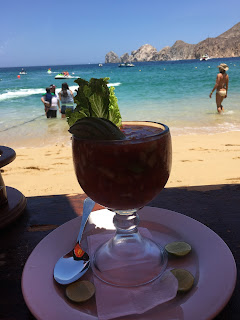 Shrimp Cocktail at Mango Deck Cabo San Lucas