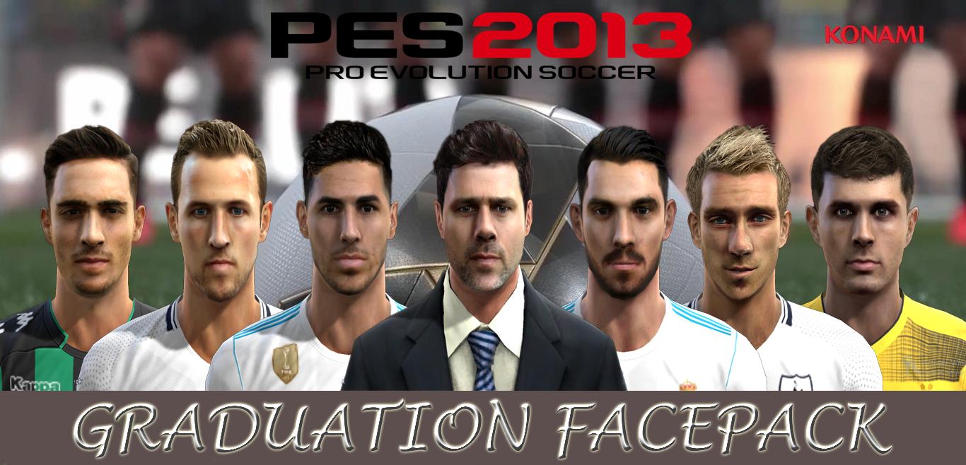 PES 2013 Graduation Facepack By Aluel Facemaker