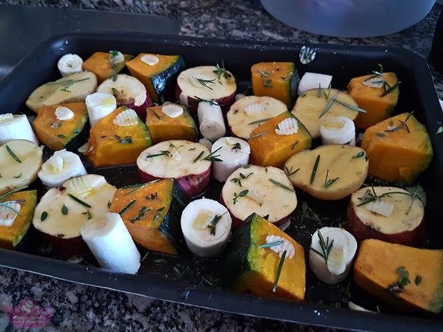 Legumes assados ao forno