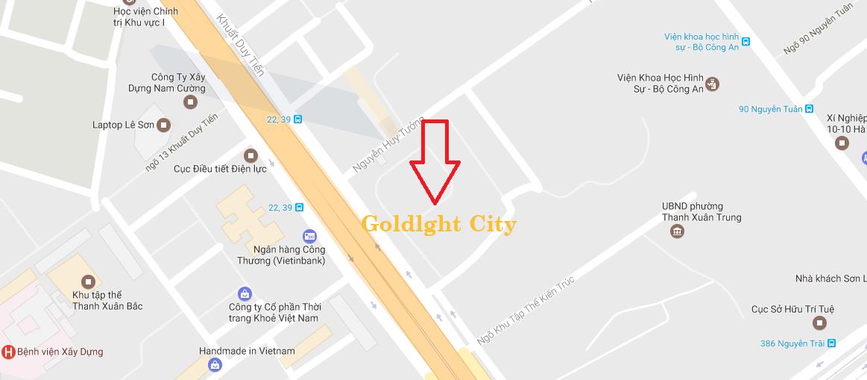 Vị trí dự án Goldlight 168 Khuất Duy Tiến