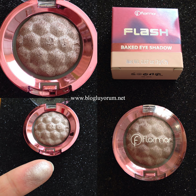 flormar flash baked eye shadow 01 pearly pink