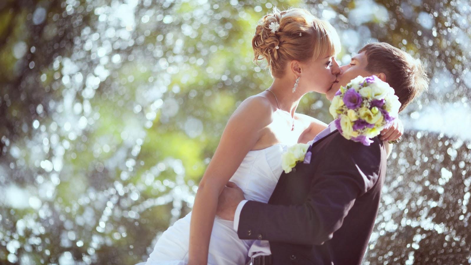 weddings couple first kissing hd wallpaper 1080p 21a | wallpaper keren