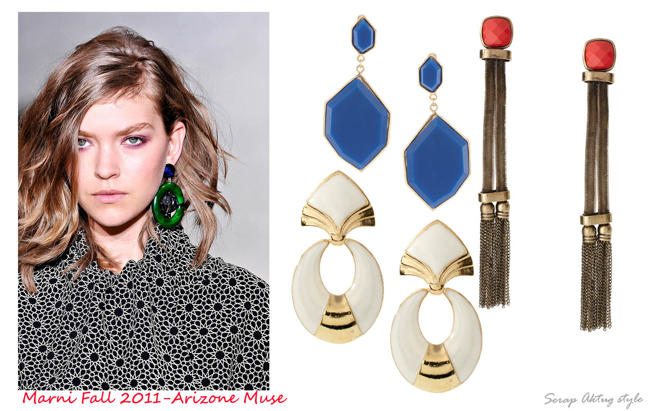serapaktugleathergoods: Vintage style drop earrings
