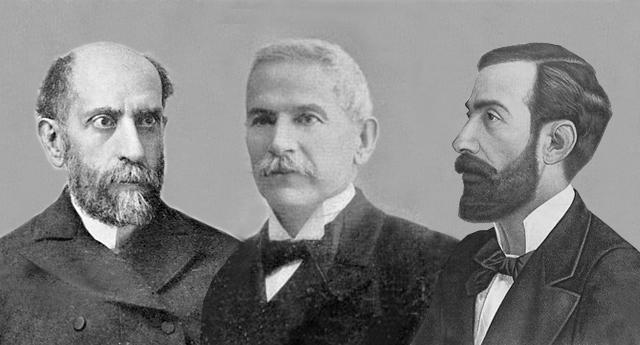 Nicolás Salmerón, Manuel Sales y Ferré, y Ramón Chíes
