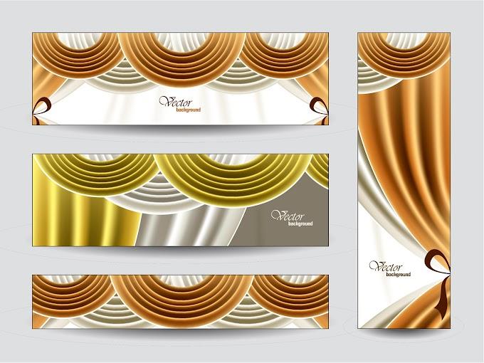 Elegant web banner design vector Free vector