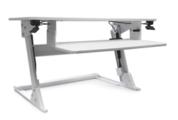 White Sit To Stand Desk Attachment
