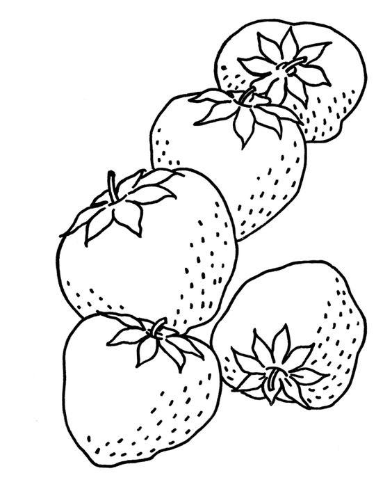 Hình tô màu những quả dâu tây