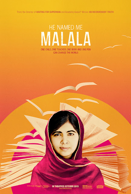 He named me Malala stand #withMalala