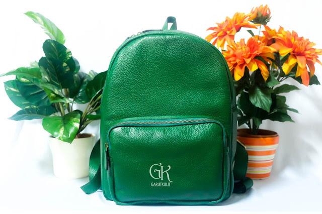 """Backpack Leather """" Summer Breeze """" HIJAU"""